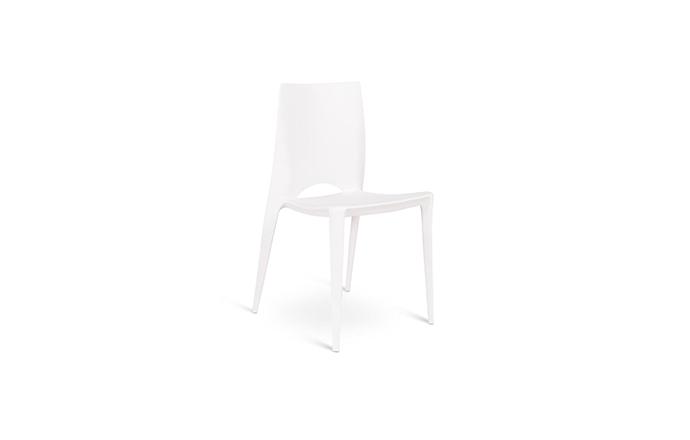 Chaise en Polypropylene blanc - Marise