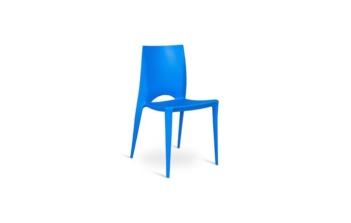 Chaise en Polypropylene bleu - Marise