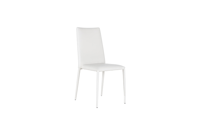 Chaise similicuir blanc - Celia