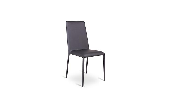Chaise similicuir gris - Celia