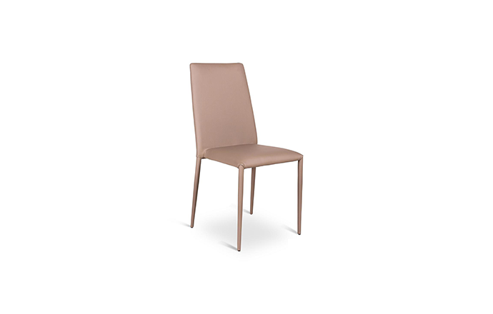 Chaise similicuir taupe - Celia