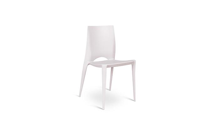 Chaise en Polypropylene gris - Marise