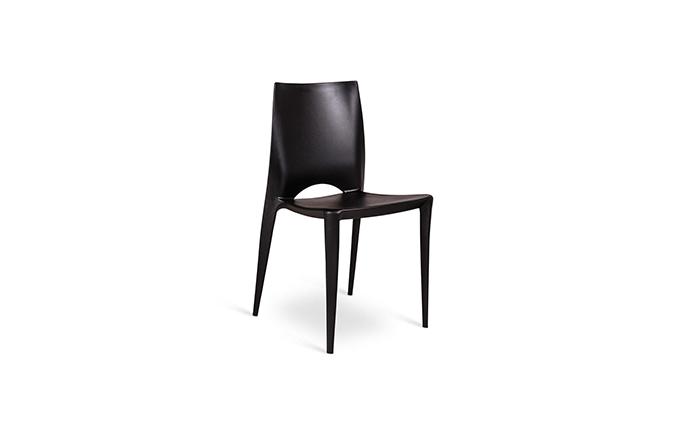 Chaise en Polypropylene noir - Marise