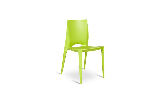 Chaise en Polypropylene vert - Marise