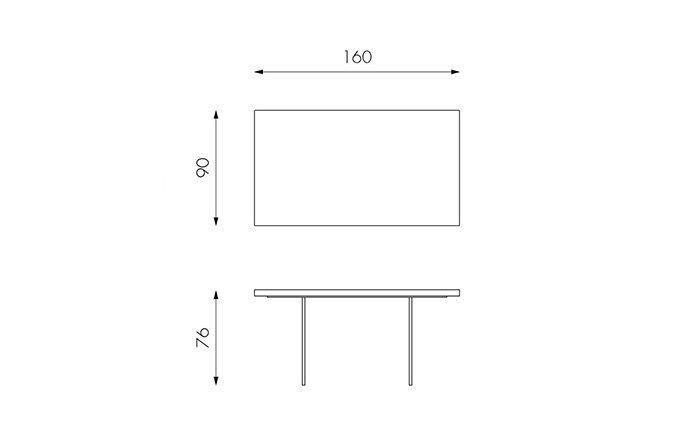 Table de repas en bois 160 - Technique