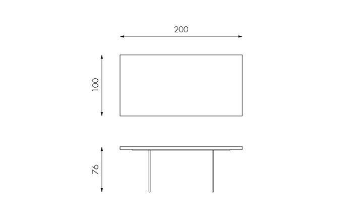 Table de repas en bois 160 fermée - Technique