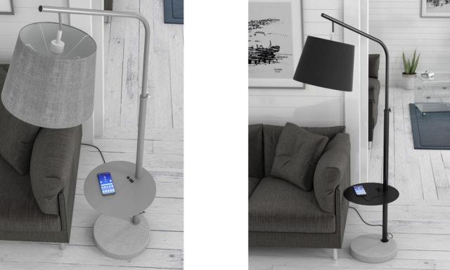 Lampadaire USB SOLARIS de chez Akante