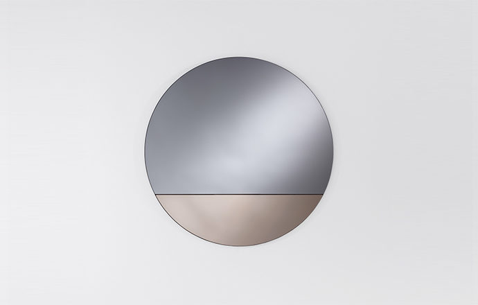 Miroir rond bronze CORD de chez Deknudt