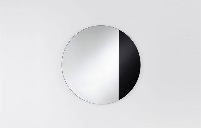 Miroir rond noir CORD de chez Deknudt