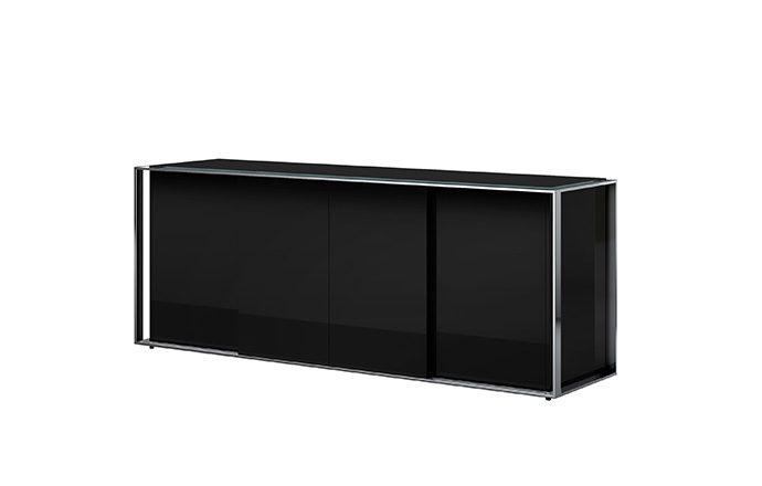 Buffet 4 portes KEY WEST noir de chez EDA Concept