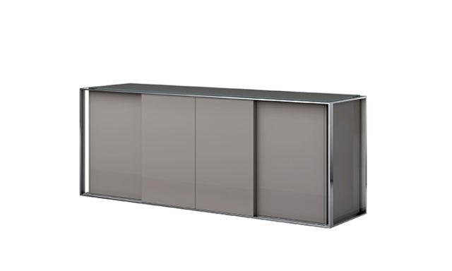 Buffet 4 portes KEY WEST taupe de chez EDA Concept