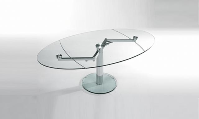 Table de repas extensible en verre EXTAND de chez eda concept