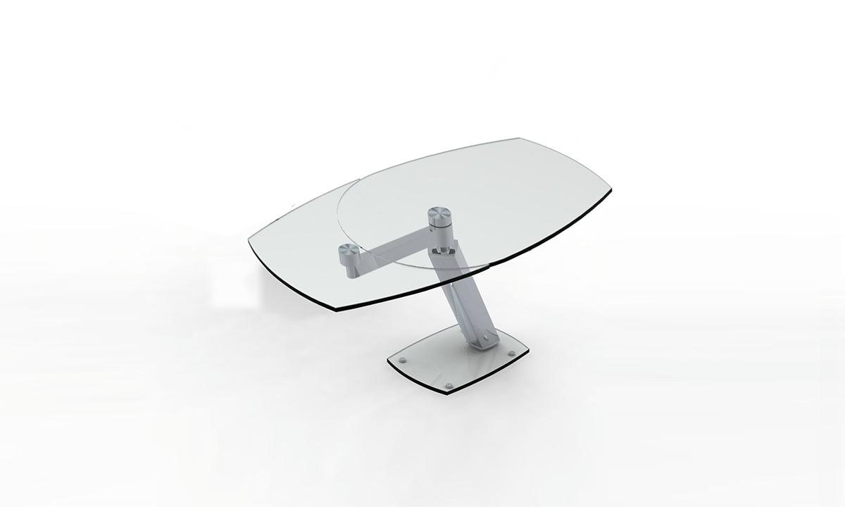 TABLE DE REPAS EN VERRE EXTENSIBLE ZARAI EDA CONCEPT 1