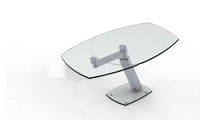 Table de repas extensible en verre ZARAI - Eda Concept - ouverte