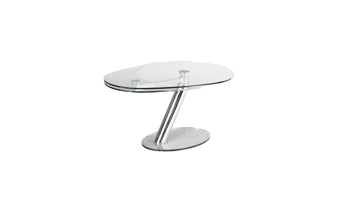 TABLE DE REPAS EN VERRE EXTENSIBLE ZESTE EDA CONCEPT 1