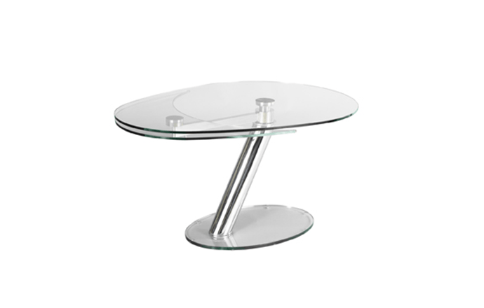 Table de repas en verre fermée ZESTE de chez Eda Concept