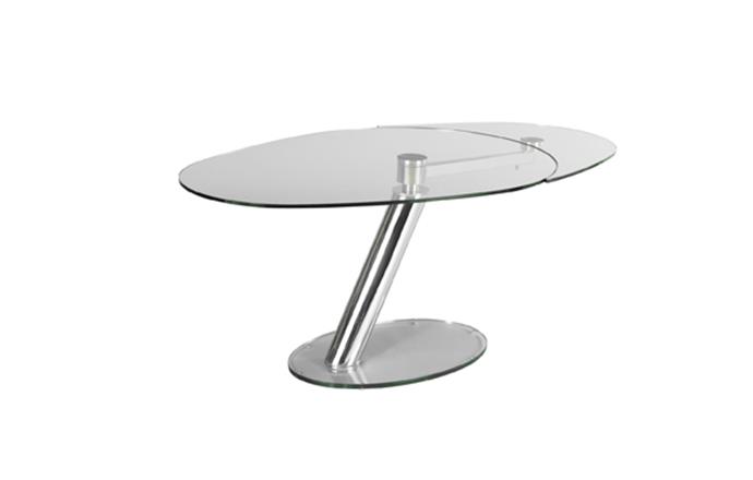 Table de repas en verre ouverte ZESTE de chez Eda Concept