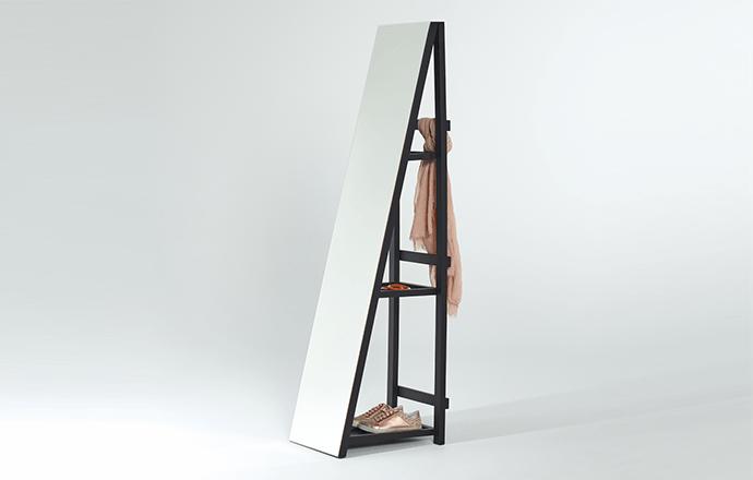 Miroir entrée avec étagère - SHELFIE