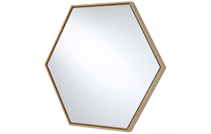 Miroir hexagone bois - Lina