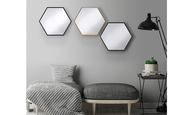 Miroir hexagone - Lina
