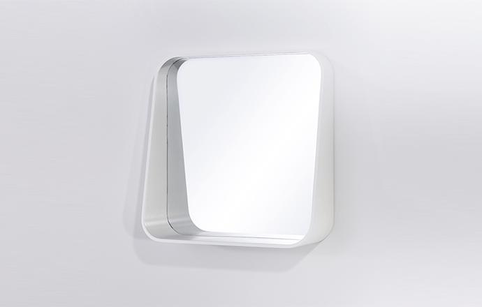 Miroir carré blanc RACK - Decknudt