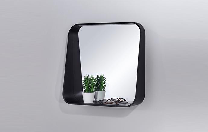 Miroir carré noir RACK - Decknudt