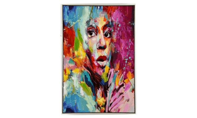 Tableau multicolore visage femme impression sur toile