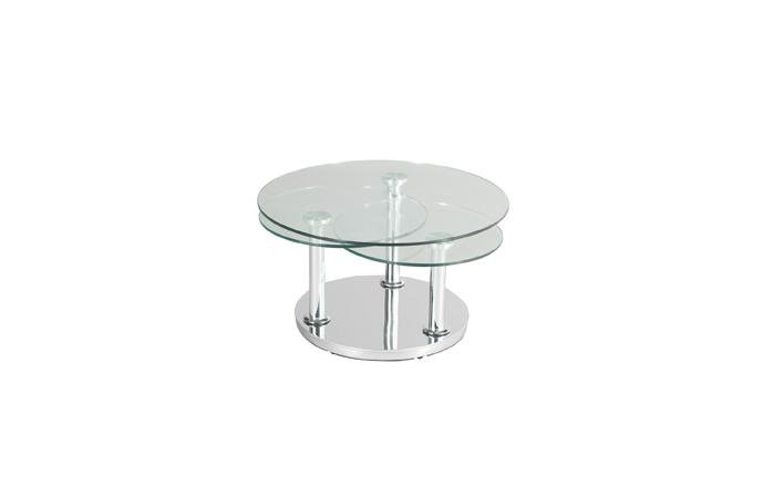 Table basse ronde 3 plateau en verre fermée - ROSE Eda Concept