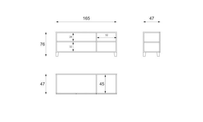 Buffet 3 portes effet béton MOSCOU - Vélizy (78140)