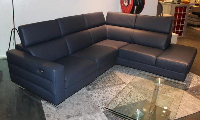 Canapé angle relax méridienne à gauche vue de face MILANO - Vélizy (78140)