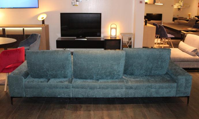 Canapé angle méridienne à droite vue de face LIVOURNE - Vélizy (78140)