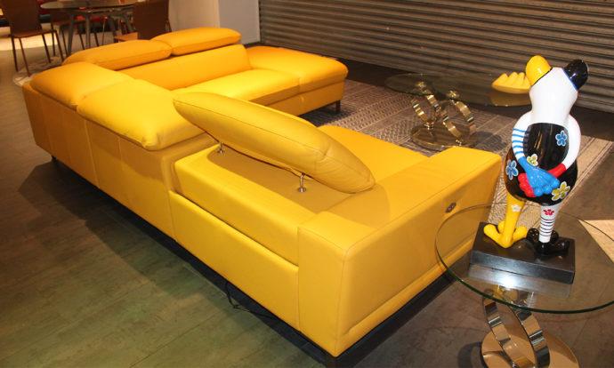 Canapé angle relax méridienne à droite vue de face FLORENCE - Vélizy (78140)