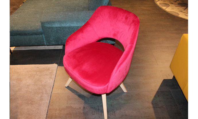 Chaise tissu velours red rose TURIN - Vélizy (78140)