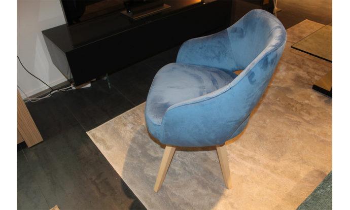 Chaise tissu velours océan TURIN - Vélizy (78140)