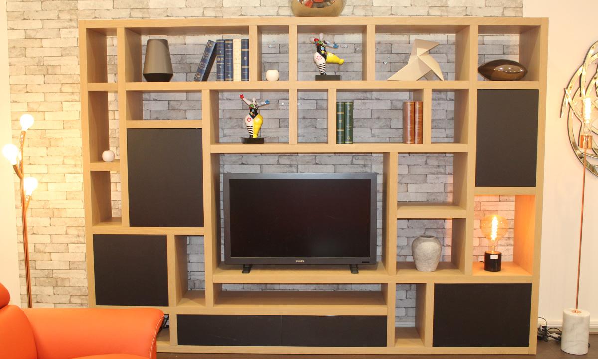 meuble tv bibliotheque cubix home