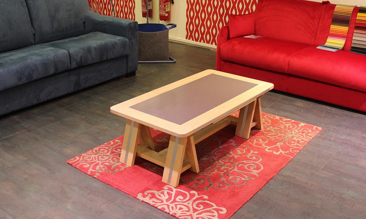 TABLE BASSE ARDOISE ET BOIS // SESTO 1