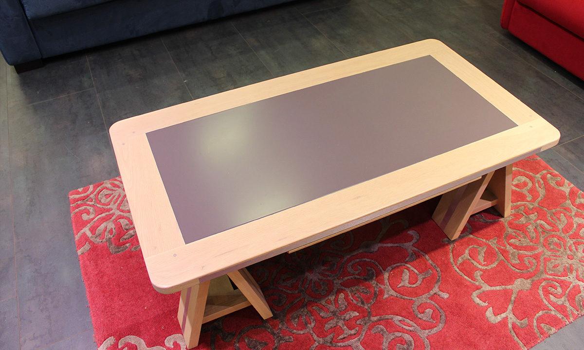 TABLE BASSE ARDOISE ET BOIS // SESTO 2