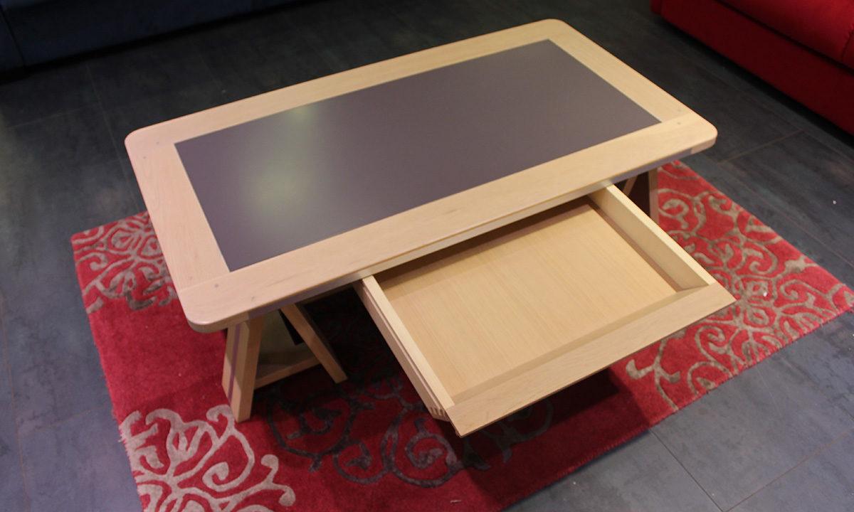 TABLE BASSE ARDOISE ET BOIS // SESTO 5