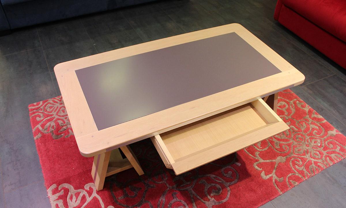 TABLE BASSE ARDOISE ET BOIS // SESTO 4