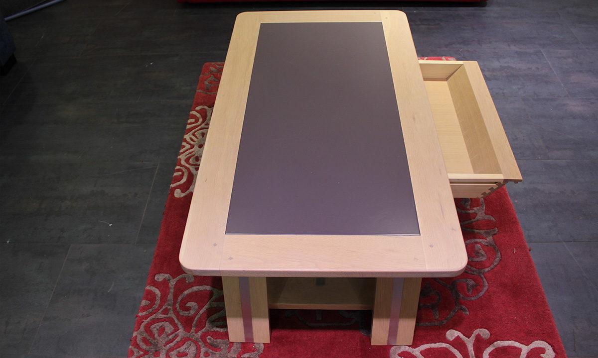 TABLE BASSE ARDOISE ET BOIS // SESTO 3