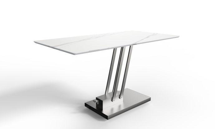 Table relevable céramique marbre blanc // BRAVO CERAMIC - EDA Concept