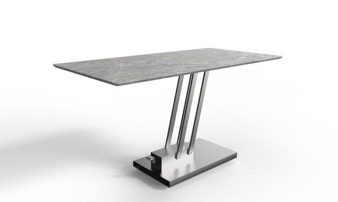 Table relevable céramique marbre gris // BRAVO CERAMIC - EDA Concept