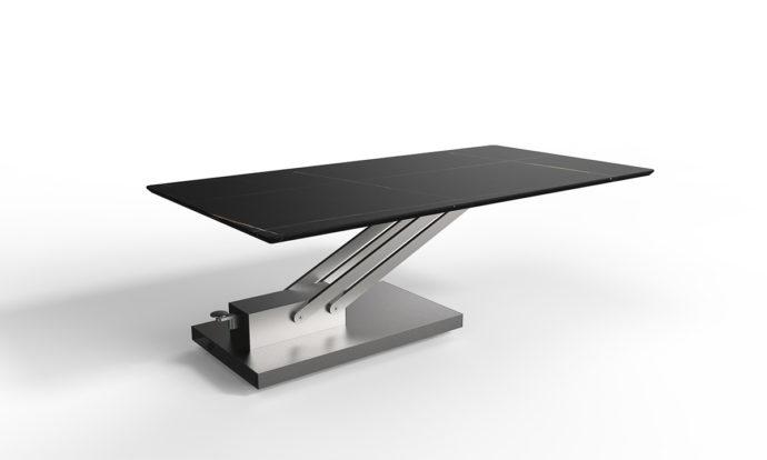 Table relevable céramique marbre noir // BRAVO CERAMIC - EDA Concept