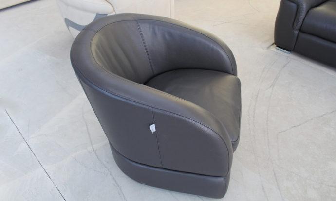 Fauteuil pivotant cabriolet cuir BALSAMO - Cesson (77240)
