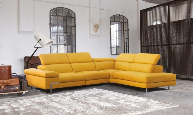 Canapé d'angle à droite cuir + relax