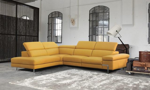 Canapé d'angle à gauche cuir + relax